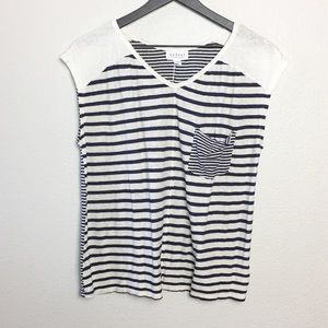 Anthro Velvet by Graham & Spencer Striped Tee SZ M
